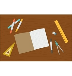 Concept of high school object and college vector image vector image