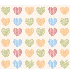 Seamless pattern with ornamental hearts vector image