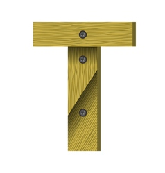 wood letter T vector image