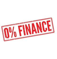 Zero percent finance red rubber stamp on white vector