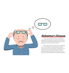 Alzheimers disease in old man vector