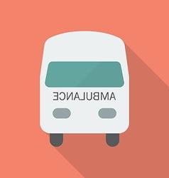 Ambulance Flat Style vector image vector image