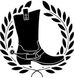 Boot with spurs stencil vector