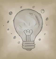 bulb symbol sketch creative idea concept vector image vector image