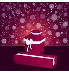 Elegant festive red background with a long and vector image vector image