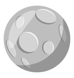 Full moon icon gray monochrome style vector image vector image