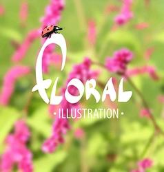 Summer delightful floral background vector