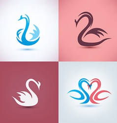 swan set vector image