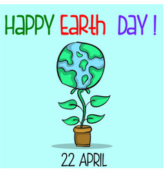 collection happy earth day style vector image vector image