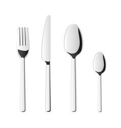 creative top view cutlery set vector image