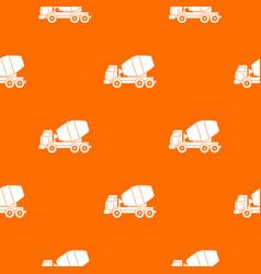 truck concrete mixer pattern seamless vector image vector image