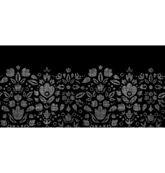 abstract black lace ornamental tulips textile vector image vector image