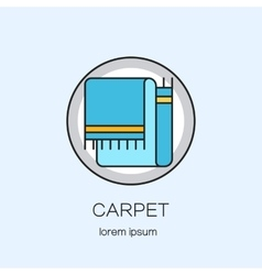 Carpeting shop diy line icon logotype design vector