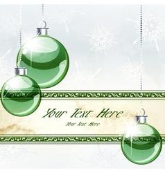 elegant christmas banner vector image vector image