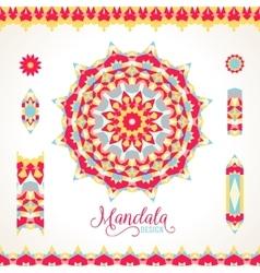 madala round ornament vector image