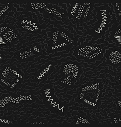 Monochrome seamless pattern with hand drawn vector