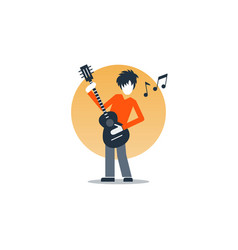 person playing guitar music entertainment live vector image vector image