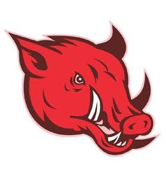 razorback wild hog vector image vector image
