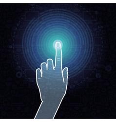 touchscreen concept vector image vector image