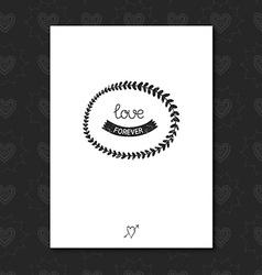 Vintage love label vector image vector image