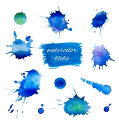 Watercolor blobs set vector image