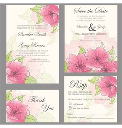 Wedding invitation set vector image