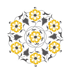 01 floral pattern yellow vector