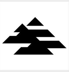 a ai initials geometric letter company logo vector image