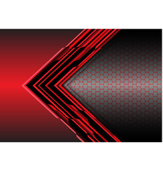 abstract red arrow light digital metallic vector image