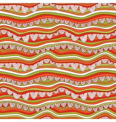 Abstract seamless pattern with stripes and circles vector image