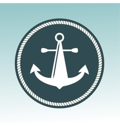 Anchor nautical symbol badge vector image