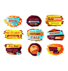 Autumn sale best offer vector