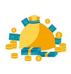 Bag and money vector