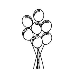 Balloons air party icon vector