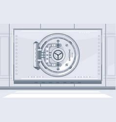 bank vault closed door vector image