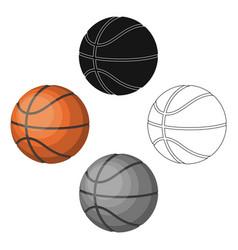 Basketballbasketball single icon in cartoonblack vector