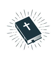 Bible scripture logo or label faith creed vector