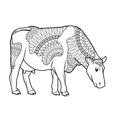 Black and white cow design vector