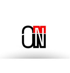 black white alphabet letter on o n logo icon vector image