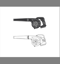 Blower electric blower leaf blower vector
