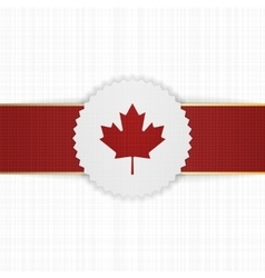 Canada paper Label with red Ribbon vector image