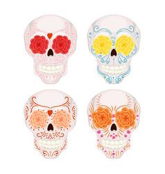 Cartoon mexican sugar skull for day vector