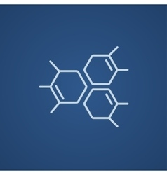 Chemical formula line icon vector image