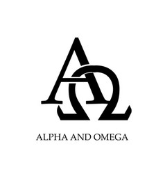 Christian quote design - alpha and omega vector