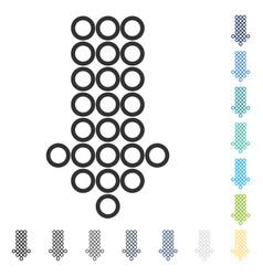 Circle arrow down icon vector