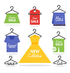 Clothing hangers sale signage and banners vector