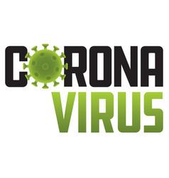 corona virus logo with virus molecule vector image