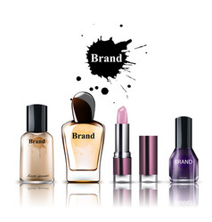 cosmetics watercolor product placement vector image