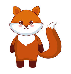 Cute and tender fox character vector