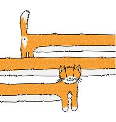 Cutest long cat vector